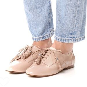 Botkier CAIA Ivory Patent Leather Tassel Oxfords